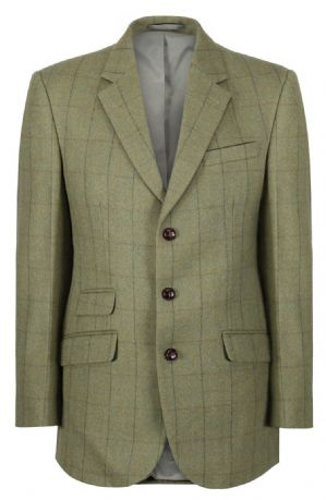Kensington Checked Tweed Jacket Blazer Sports Coat Quality Green 100% Wool New